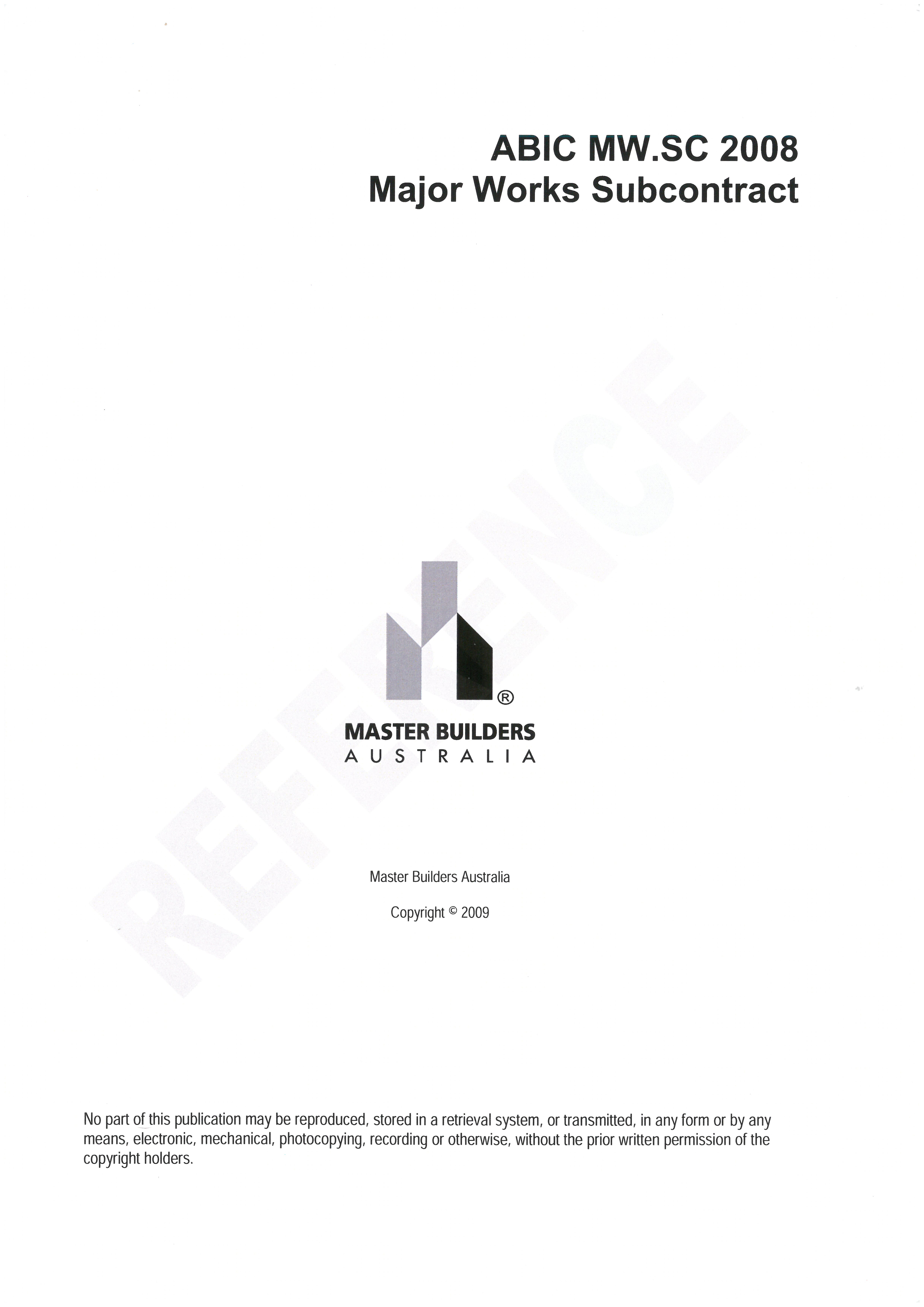 Abic mw 2008 contract forms pdf format master builders wa for Cost plus building contract