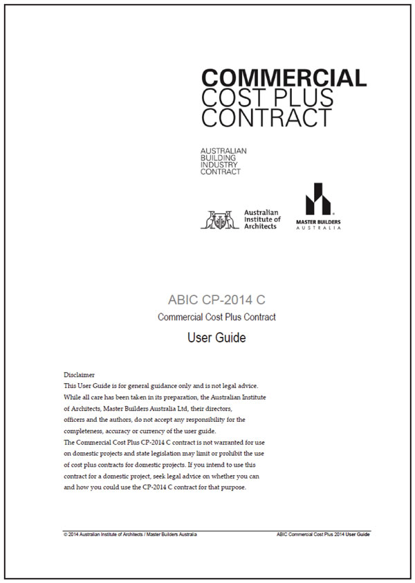 Abic Cp 2014 C Commercial Cost Plus User Guide Master