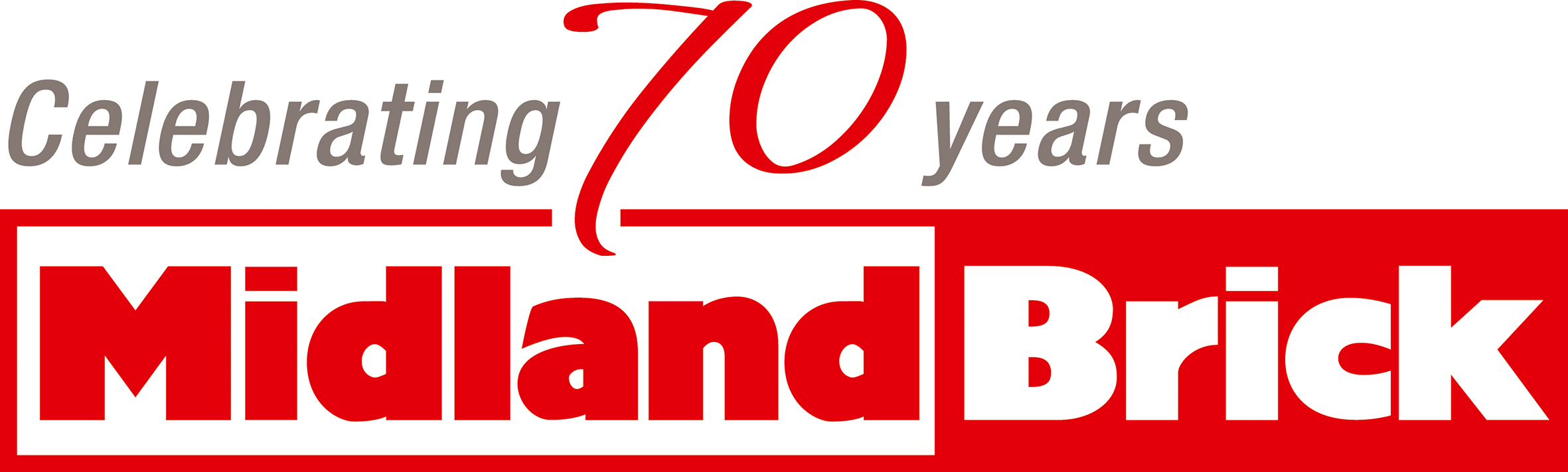 Mildand Brick 70th Logo CMYK