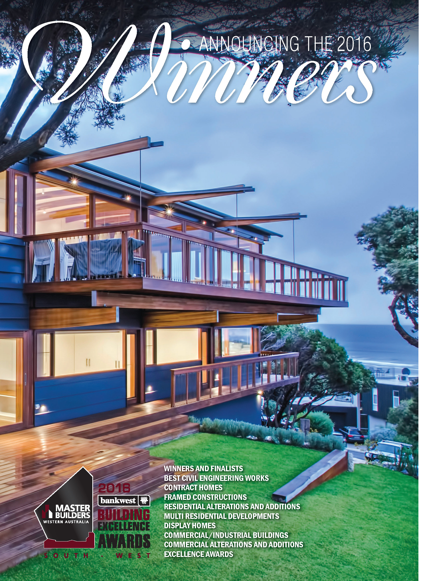2016 Master Builders Bankwest South West Winners Magazine