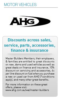 Master Builders Savings-Motor Vehicles