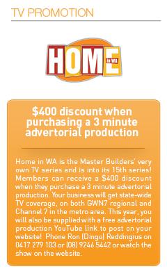 Master Builders Savings-TV Promotion