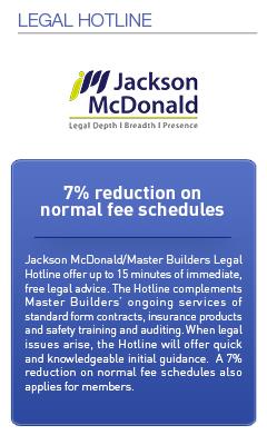 Master Builders Savings-Legal Hotline